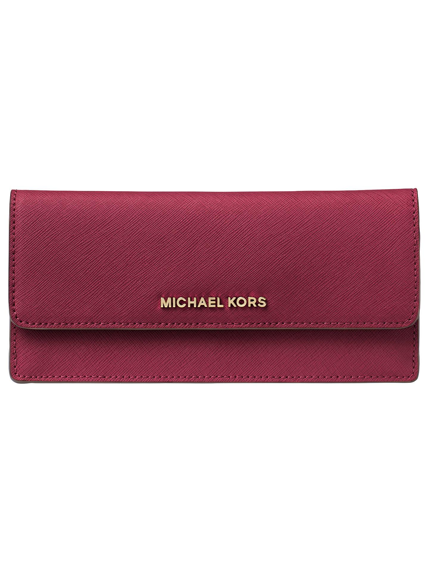 ba92c21e039a MICHAEL Michael Kors Jet Set Travel Leather Flapover Wallet at John ...