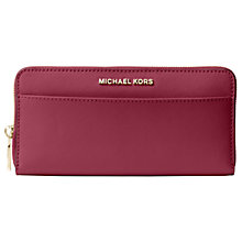 Buy MICHAEL Michael Kors Jet Set Travel Zip Around Continental Leather Purse Online at johnlewis.com