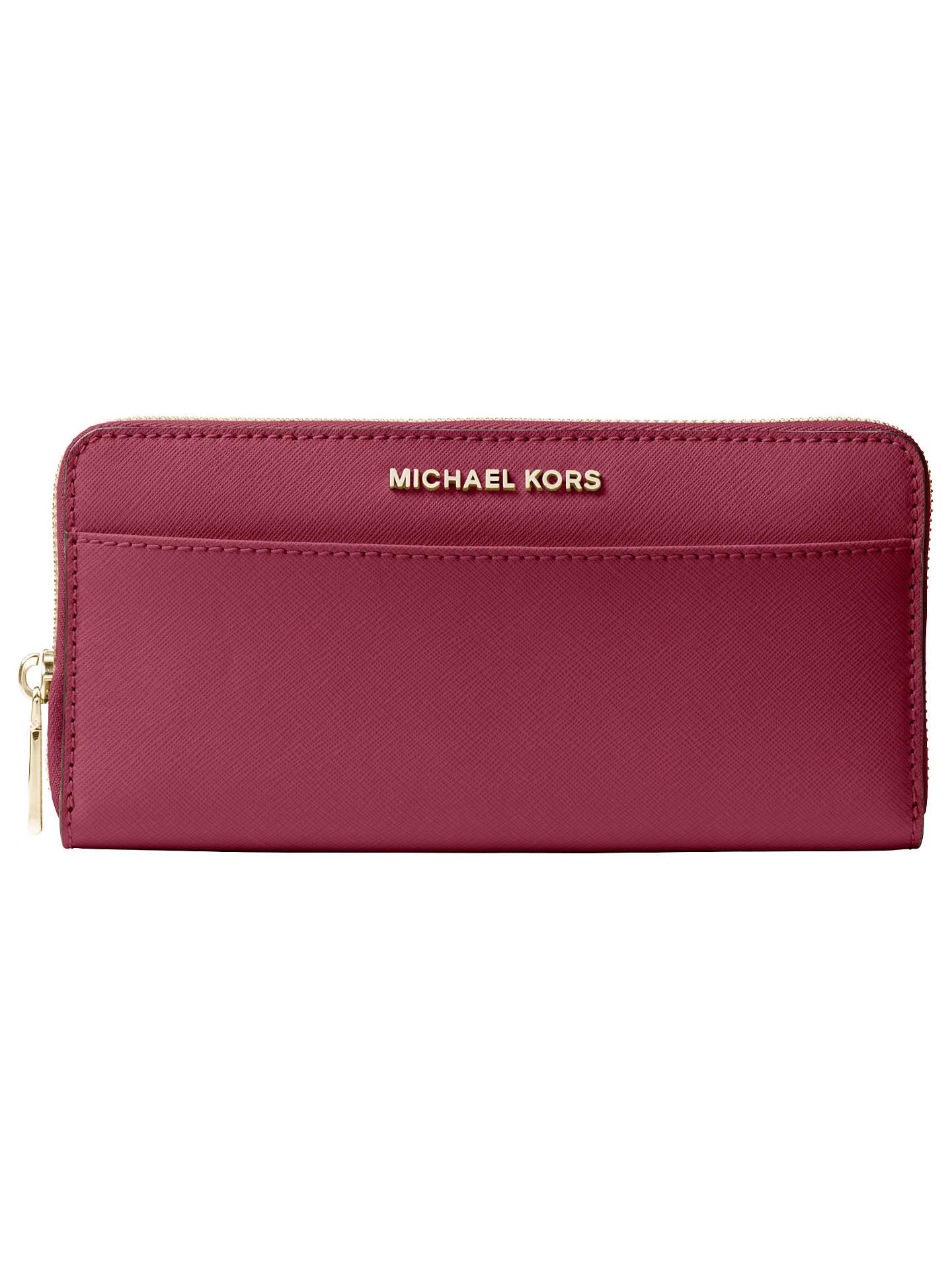michael michael kors jet set travel zip around continental leather rh johnlewis com