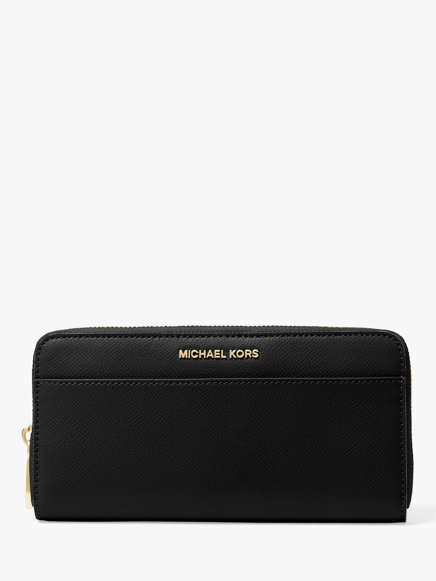 d3143087fda38b Buy MICHAEL Michael Kors Jet Set Travel Zip Around Continental Leather  Purse, Black Online at ...