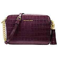 Buy MICHAEL Michael Kors Ginny Embossed Leather Cross Body Camera Bag Online at johnlewis.com