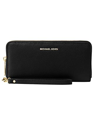 323a10416b56 MICHAEL Michael Kors Jet Set Travel Continental Leather Zip Around Purse