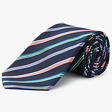 Buy Paul Smith Made in Italy Silk Stripe Tie, Navy Online at johnlewis.com