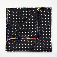 Buy Paul Smith Polka Dot Silk Pocket Square, Black Online at johnlewis.com