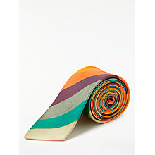 Buy Paul Smith Stripe Silk Tie, Multi Online at johnlewis.com