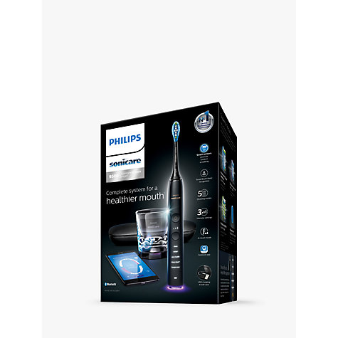 Buy Philips HX9924/14 DiamondClean Smart Sonic Electric Toothbrush with App, Black Online at johnlewis.com