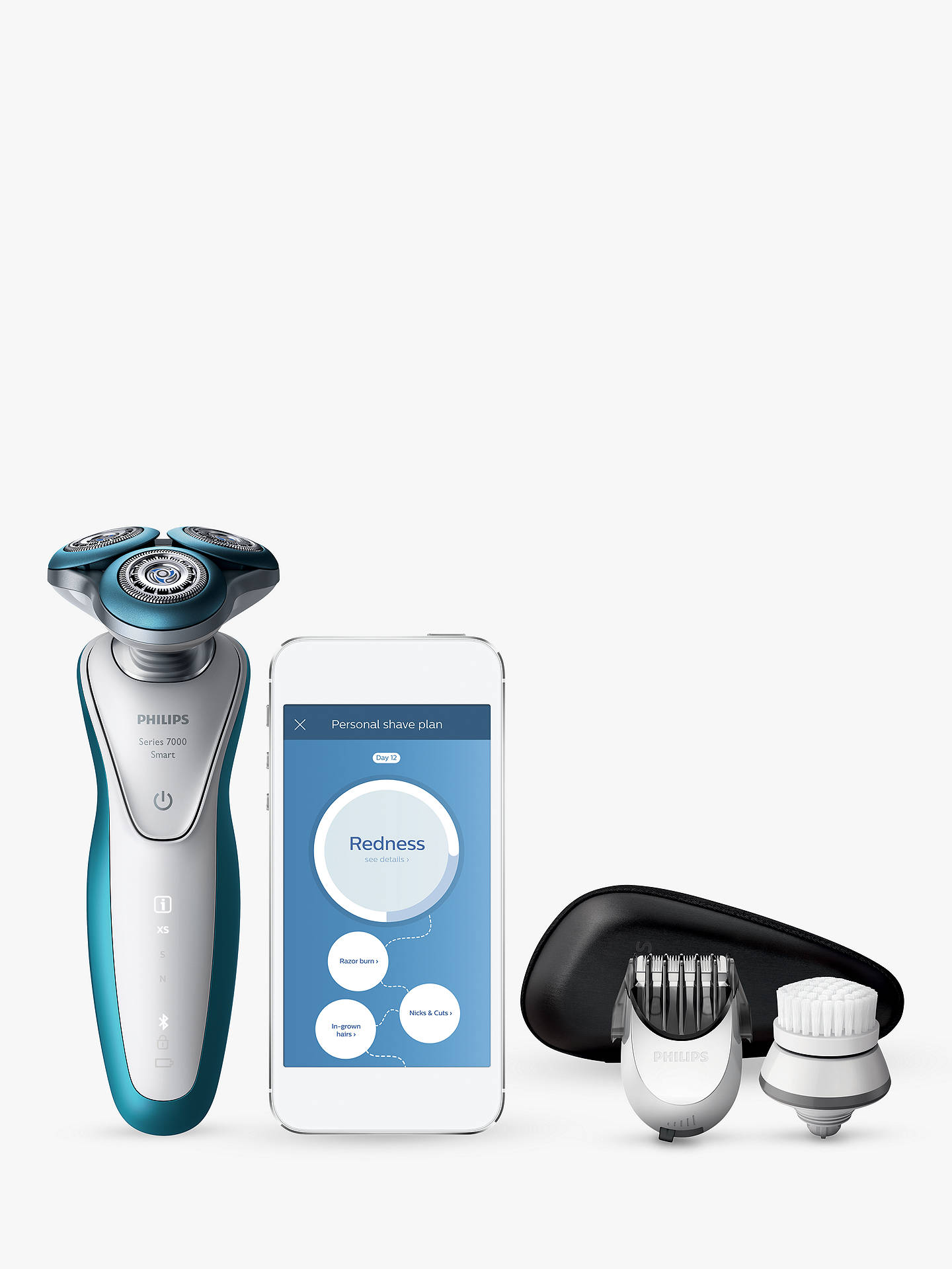 Buy Philips S7921/51 Smart Shaver Series 7000, Blue Online at johnlewis.com