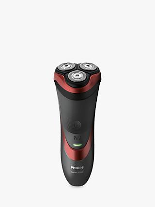 Philips S3580/06 Series 3000 Wet and Dry Electric Shaver with Pop-Up Trimmer, Red