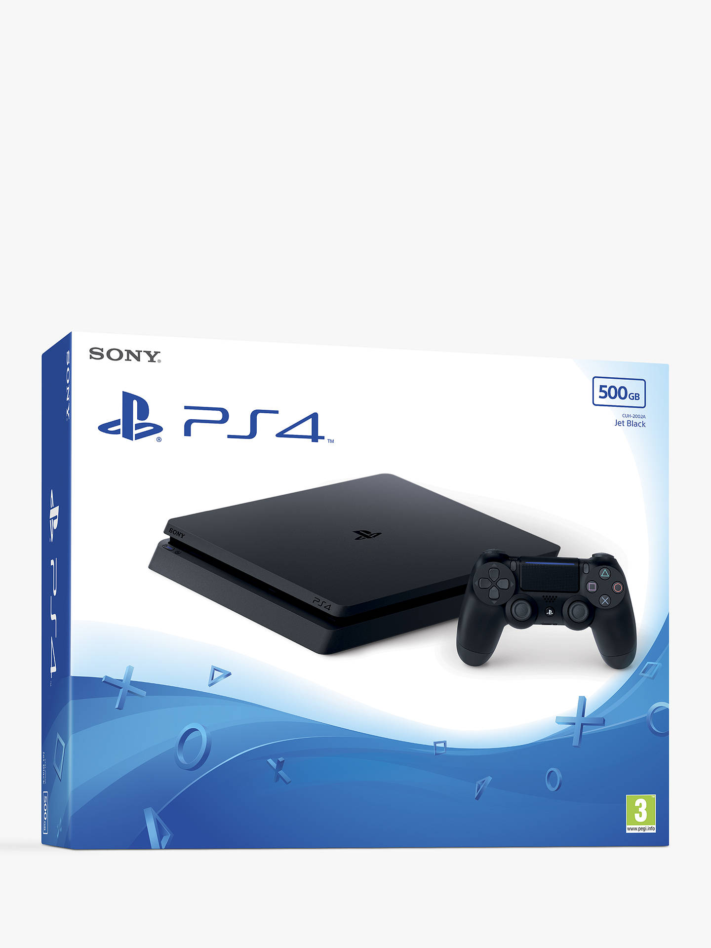 Buy Sony PlayStation 4 Slim Console with DUALSHOCK 4 Controller, 500GB, Jet Black Online at johnlewis.com