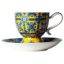 Buy T2 Marigold Magic Tall Tea Cup and Saucer, Multi, 200ml Online at johnlewis.com