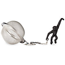 Buy T2 Tea Infuser With Monkey Cup Grip, Black Online at johnlewis.com