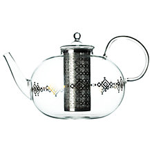 Buy T2 Istanbul Turkish Glass Teapot, Clear/Multi, 1450ml Online at johnlewis.com