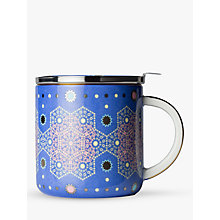 Buy T2 Moroccan Tealeidoscope Infuser Mug With Lid, Aqua, 400ml Online at johnlewis.com