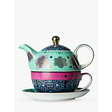 Buy T2 Moroccan Tealeidoscope Teapot For One, Aqua/Multi Online at johnlewis.com