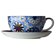 Buy T2 Dazed and Dazzled Cup and Saucer, Blue/Multi, 250ml Online at johnlewis.com