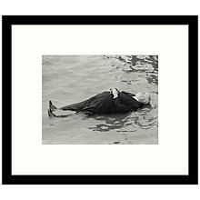 Buy Getty Images Gallery - Hitchcock In The Water 1971 Framed Print, 57 x 49cm Online at johnlewis.com