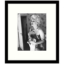 Buy Getty Images Gallery - Marilyn Getting Ready 1955 Framed Print, 57 x 49cm Online at johnlewis.com