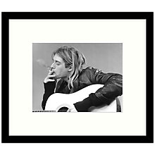 Buy Getty Images Gallery - Kurt Cobain & Nirvana 1991 Framed Print, 57 x 49cm Online at johnlewis.com