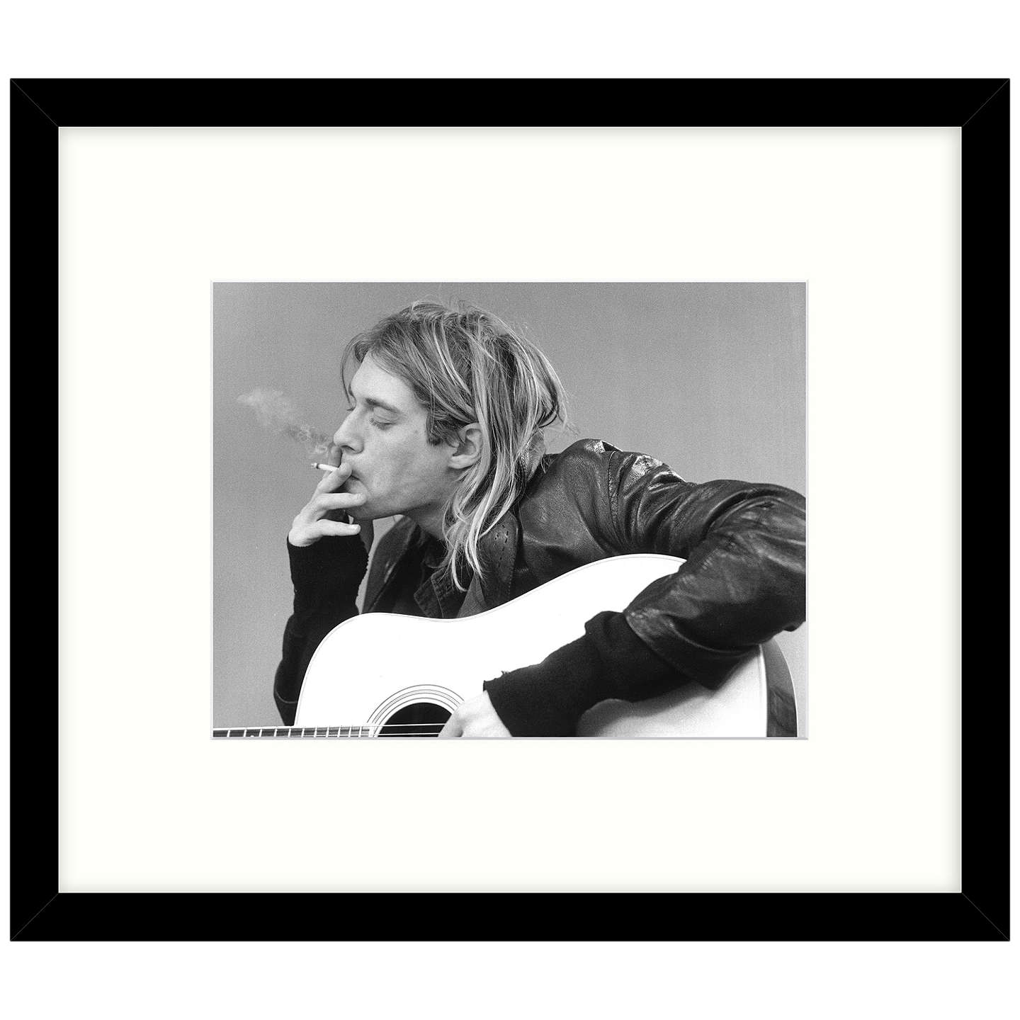 BuyGetty Images Gallery - Kurt Cobain & Nirvana 1991 Framed Print, 57 x 49cm Online at johnlewis.com