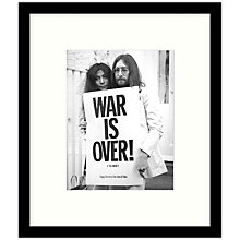 Buy Getty Images Gallery - War Is Over 1969 Framed Print, 57 x 49cm Online at johnlewis.com
