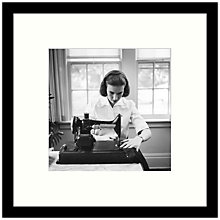 Buy Getty Images Gallery - Home Sewing 1955 Framed Print, 49 x 49cm Online at johnlewis.com