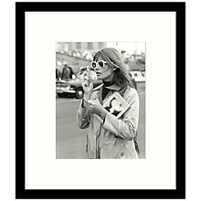 Buy Getty Images Gallery - Francoise Hardy 1966 Framed Print, 49 x 57cm Online at johnlewis.com