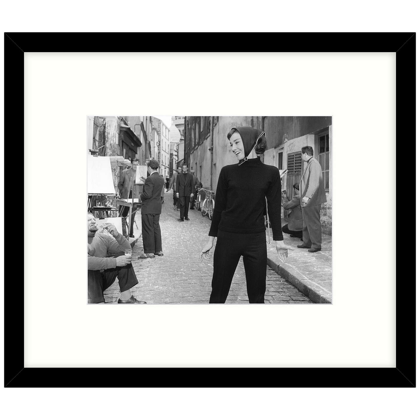 BuyGetty Images Gallery - Hepburn At Paris 1956 Framed Print, 57 x 49cm Online at johnlewis.com