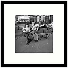 Buy Getty Images Gallery - Steptoe And A Beatle 1964 Framed Print, 49 x 49cm Online at johnlewis.com