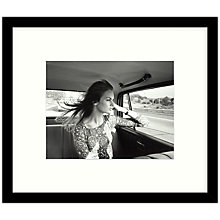 Buy Getty Images Gallery - Jean Shrimpton 1966 Framed Print, 57 x 49cm Online at johnlewis.com