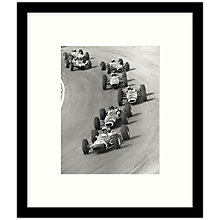 Buy Getty Images Gallery - Top Drivers 1965 Framed Print, 49 x 57cm Online at johnlewis.com