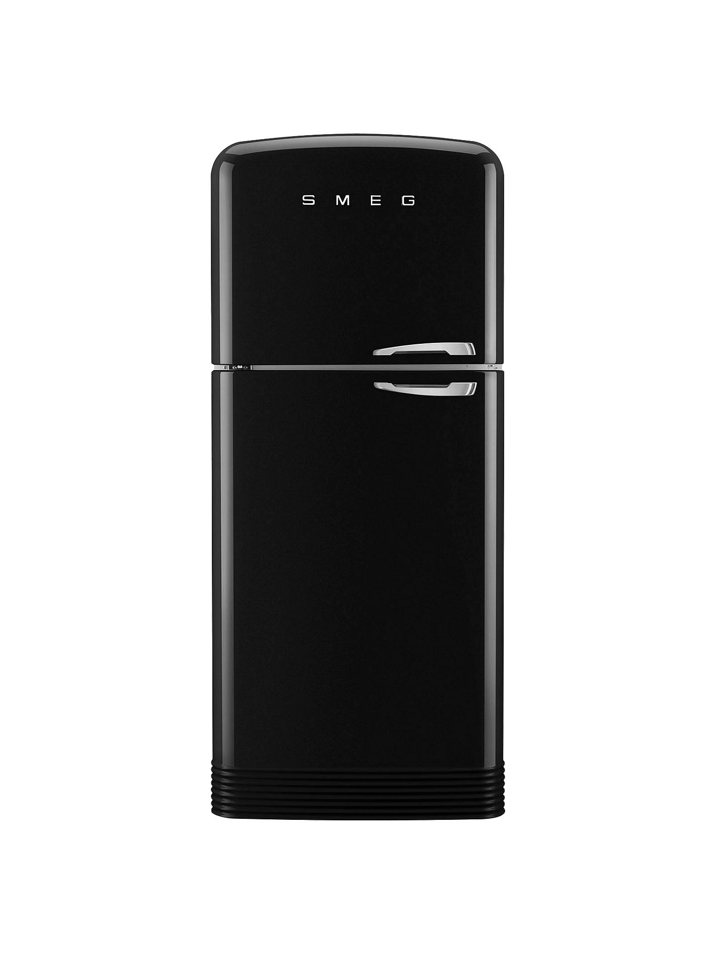Buy Smeg FAB50LBL Fridge Freezer, A++ Energy Rating, Left-Hand Hinge, 80cm Wide, Black Online at johnlewis.com