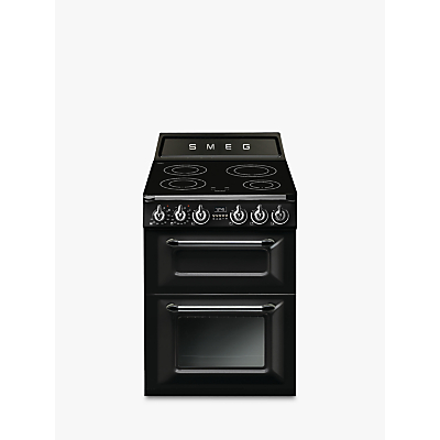 Image of Smeg Victoria TR62IBL Electric Range Cooker with Induction Hob, A Energy Rating