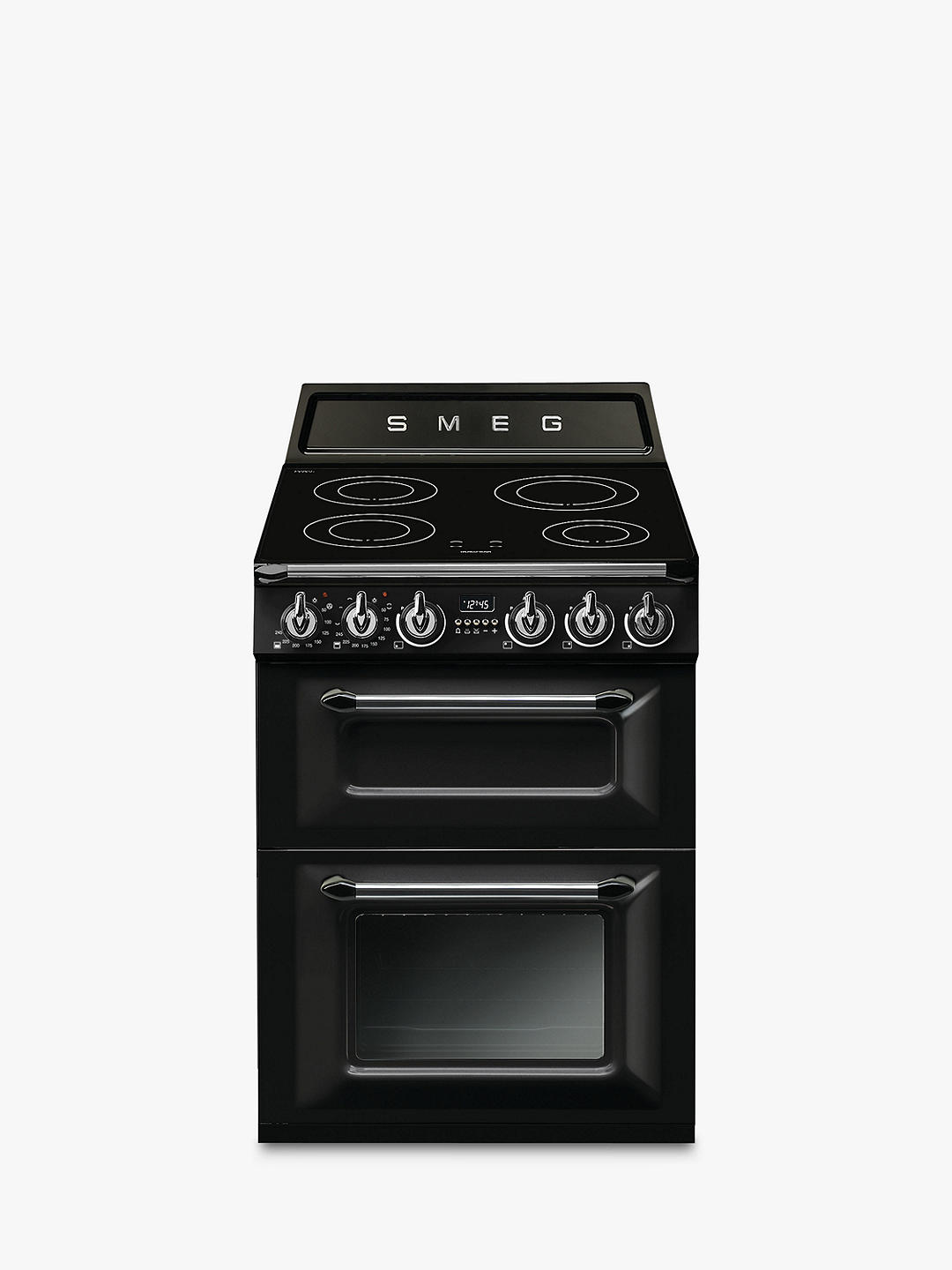 Buy Smeg Victoria TR62I Electric Range Cooker with Induction Hob, A Energy Rating, Black Online at johnlewis.com