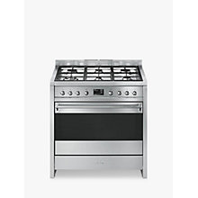 Buy Smeg A1-9 Opera Range Cooker with Gas Hob, Stainless Steel Online at johnlewis.com