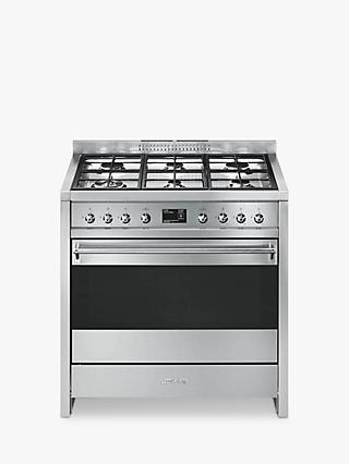 Smeg A1-9 Opera Range Cooker with Gas Hob, Stainless Steel