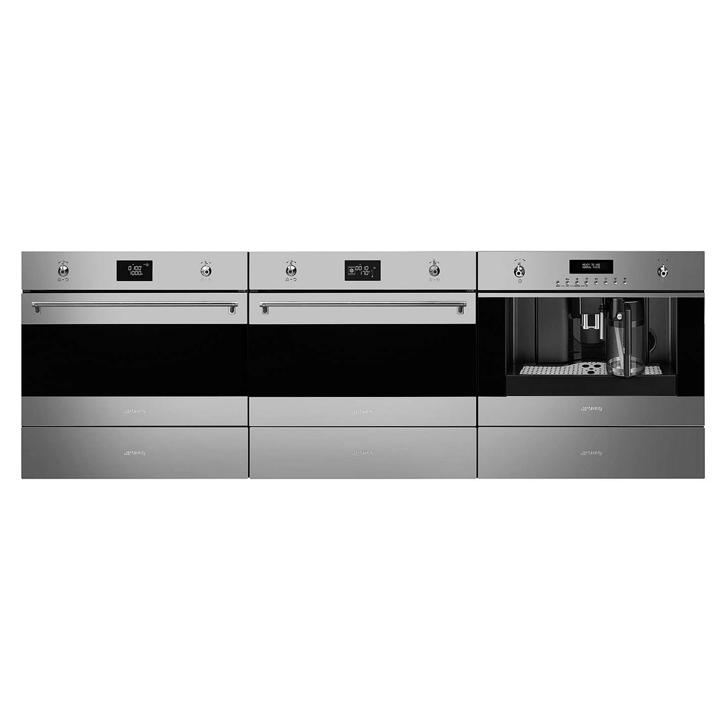 BuySMEG SF4390VCX Classic Compact Combination Steam Oven, Stainless Steel Online at johnlewis.com