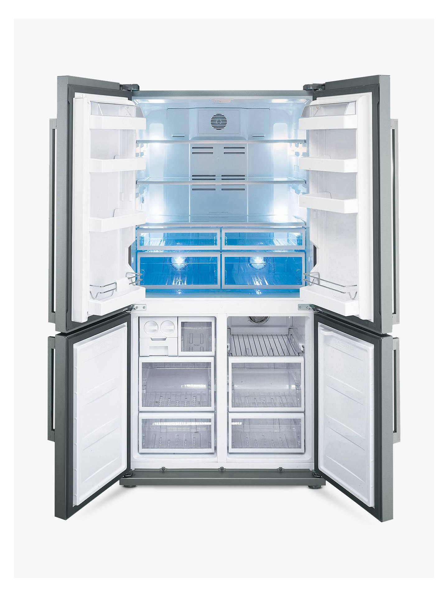 BuySmeg FQ60XPE Freestanding Fridge Freezer, A+ Energy Rating, 92cm, Stainless Steel Online at johnlewis.com