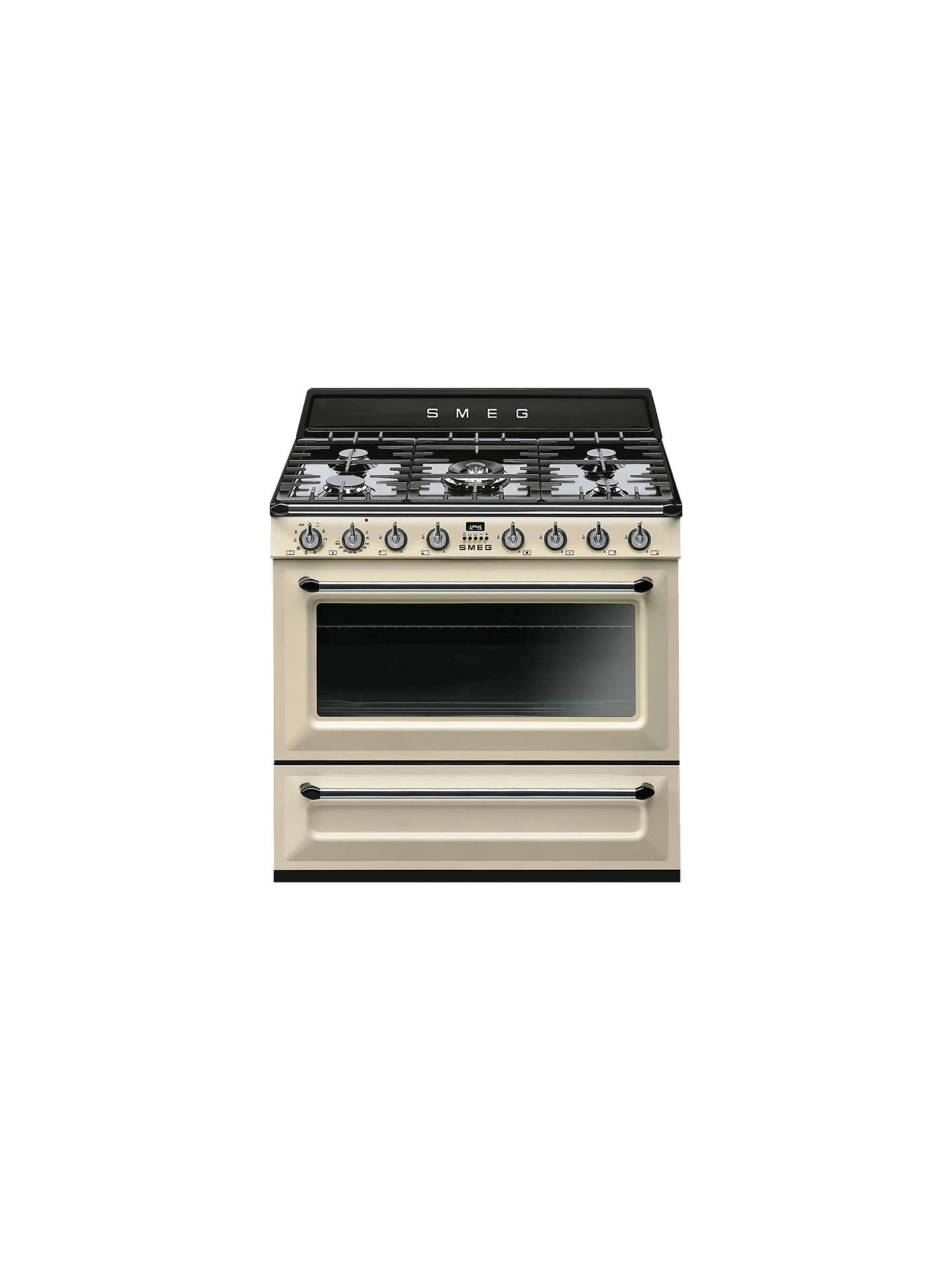 BuySmeg TR90P9 Dual Fuel Range Cooker, Cream Online at johnlewis.com