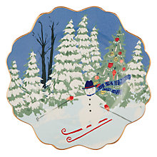 Buy Anthropologie Emily Isabella Christmas Snowman Side Plate, Multi, Dia.21cm Online at johnlewis.com