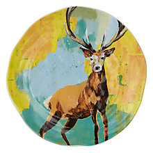 Buy Anthropologie Lauren Carlson Walcott Dessert Plate, Dia.21.6cm, Stag Online at johnlewis.com