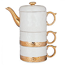 Buy Anthropologie Duet Set Tea For Two Teapot, Cream/Gold Online at johnlewis.com