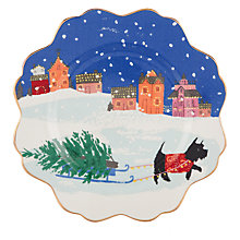 Buy Anthropologie Emily Isabella Christmas Dog Side Plate, Multi, Dia.21cm Online at johnlewis.com
