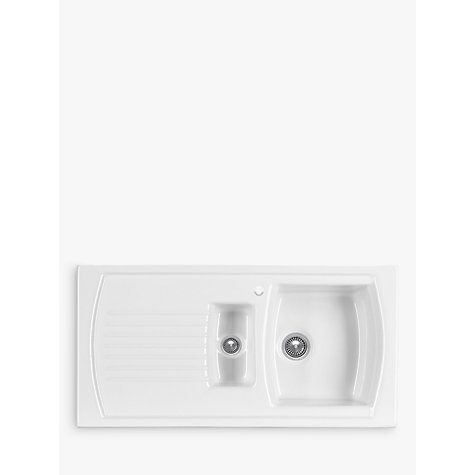 Buy Clearwater Sonnet Inset 1.5 Bowl Ceramic Kitchen Sink, White ...