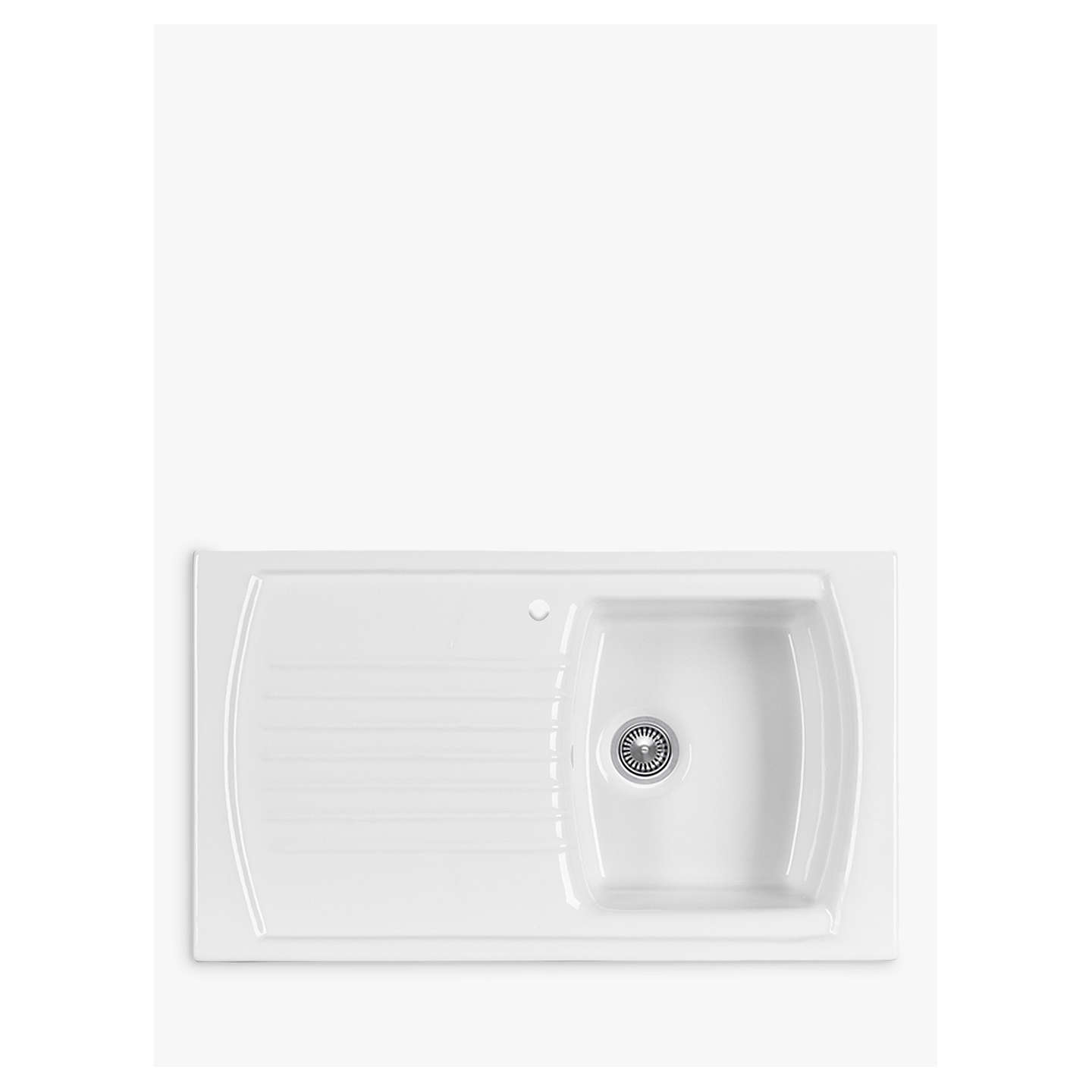 Clearwater sonnet inset single bowl ceramic kitchen sink white at buyclearwater sonnet inset single bowl ceramic kitchen sink white online at johnlewis workwithnaturefo