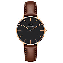 Buy Daniel Wellington Women's Petite Leather Strap Watch Online at johnlewis.com
