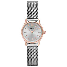 Buy CLUSE CL50024 La Vedette Mesh Bracelet Strap Watch, Silver Online at johnlewis.com
