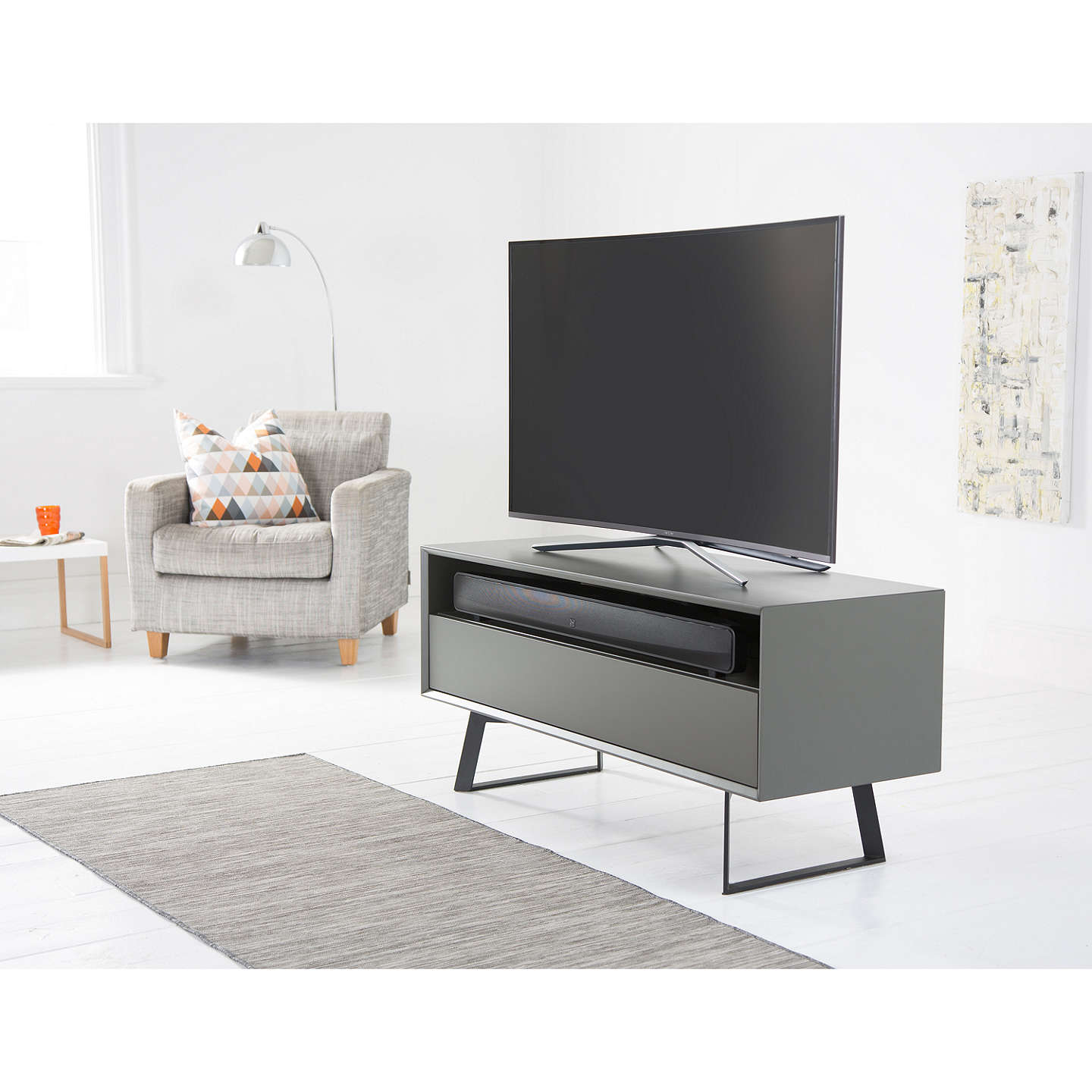 BuyQ Acoustics Media 4 (M4) Bluetooth NFC All-In-One Sound Bar, Black Online at johnlewis.com