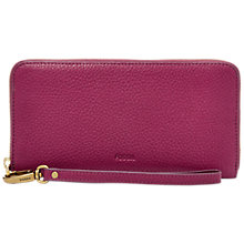 Buy Fossil Emma Leather Large RFID Zip Clutch Purse Online at johnlewis.com