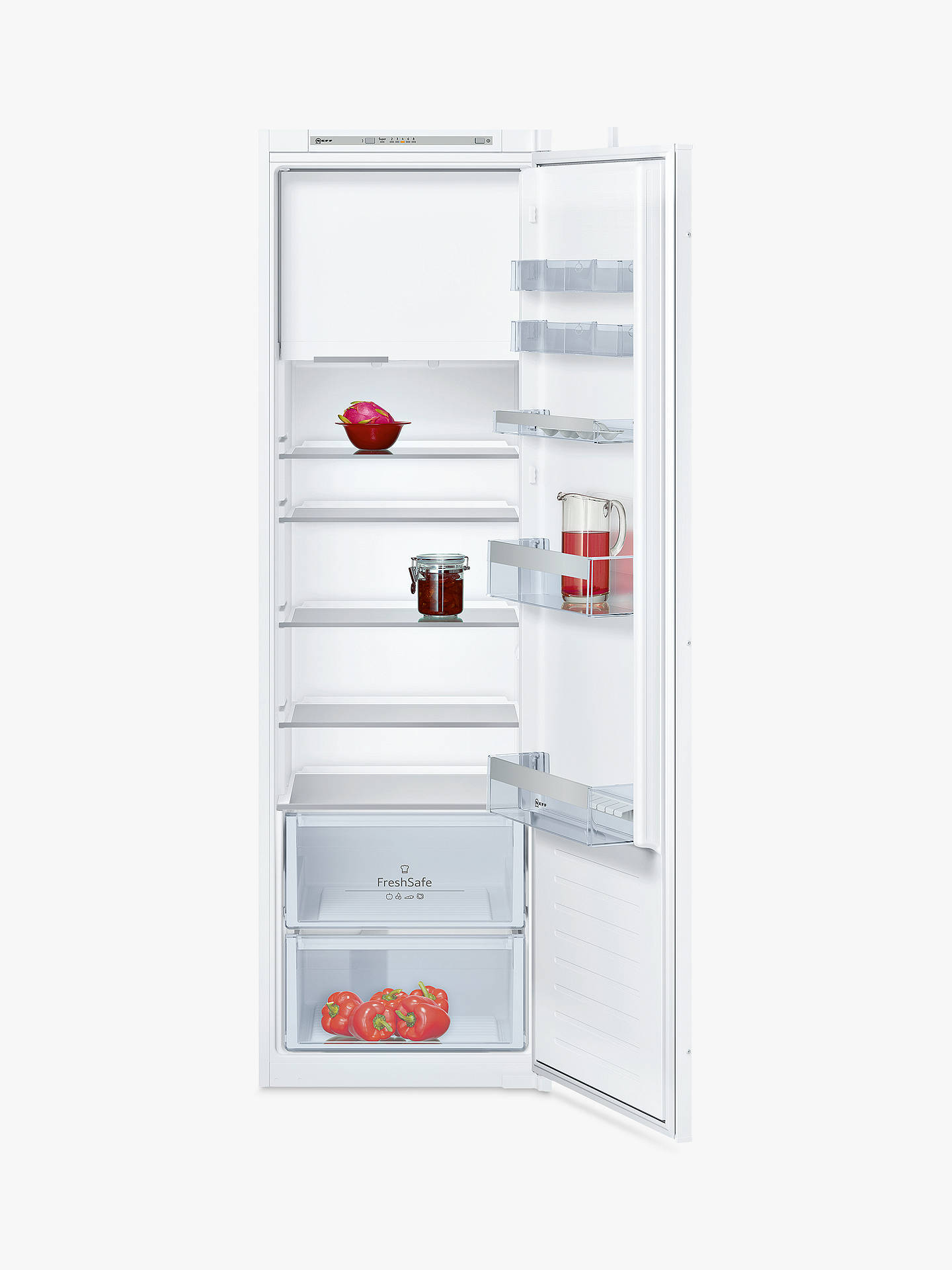 Buy Neff KI2822S30G Larder Fridge with Freezer Compartment, A++ Energy Rating, 54cm Wide, White Online at johnlewis.com