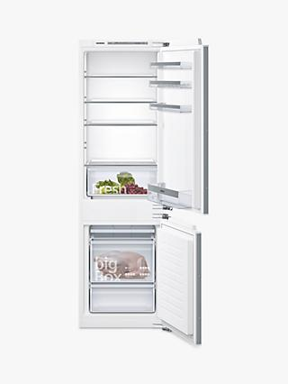 Siemens KI86VVF30G Integrated 60/40 Fridge Freezer, Fixed Door Hinge, A++ Energy Rating, 56cm Wide, White